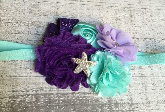 This adorable hair clip was inspired by the oh so popular movie, The Little Mermaid! Perfect for girls of any age! Can be put on stretch elastic
