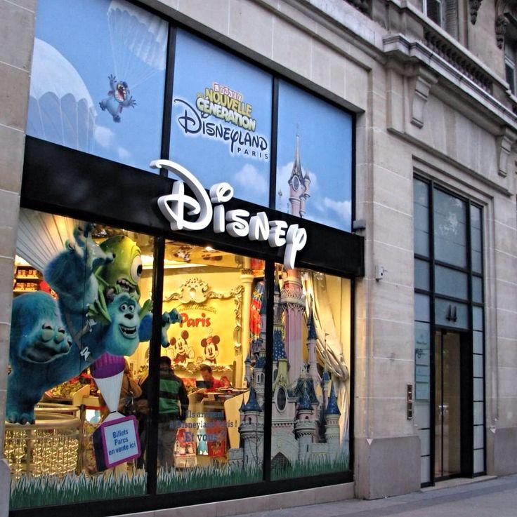 Disney store on the champs élysées in Paris France