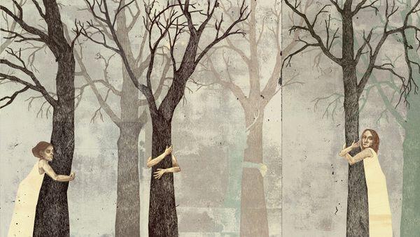 Piia Lehti: Kertomuksia rakkaudesta / Stories of Love, 56 x 100 cm, silkscreen on plywood, 2014