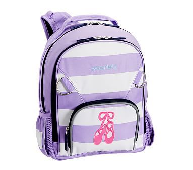 Small Backpack, Fairfax Lavender White Stripe Ballet Shoes