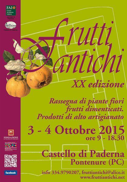 Briciole di Sapori: Frutti antichi. 3 e 4 ottobre 2015 al Castello di ...