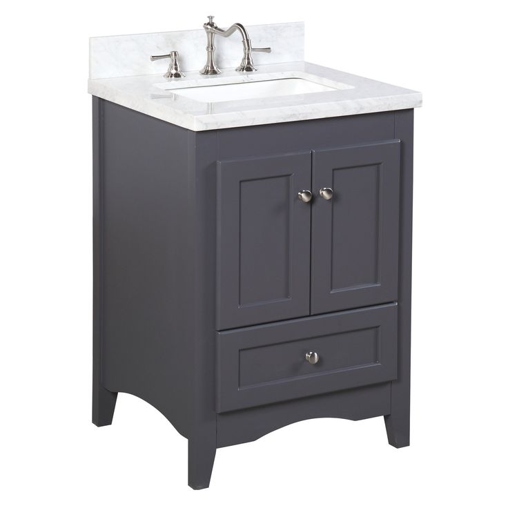 24 vanity with sink. abbey 24-inch vanity (carrara/charcoal gray) 24 with sink
