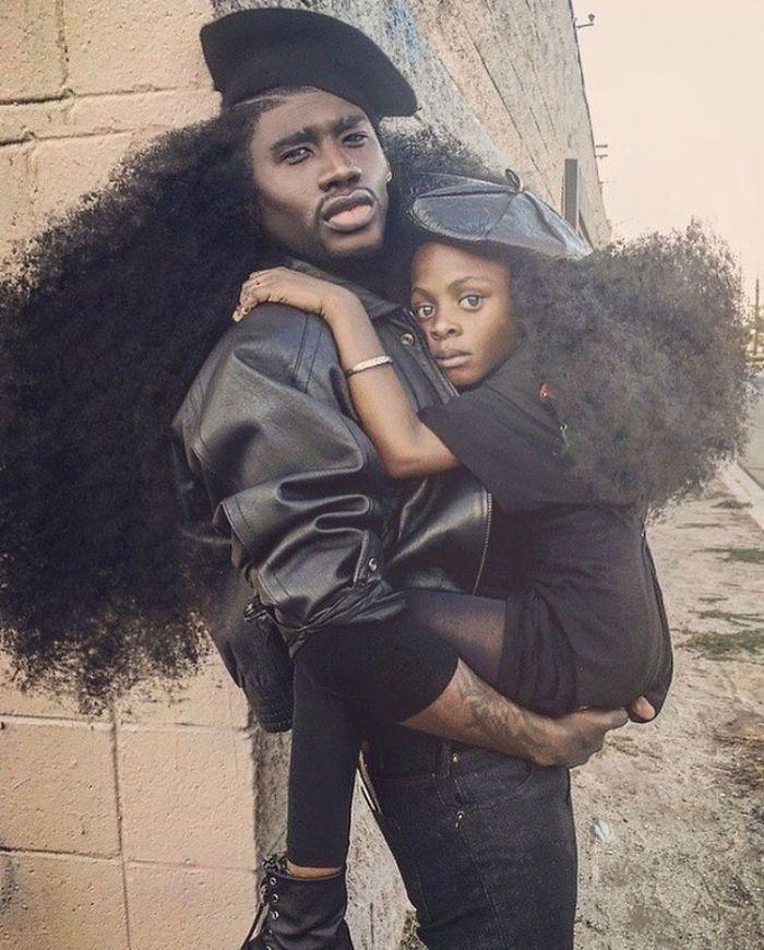 Dueto De Pai E Filha Faz Sucesso Na Internet Com Seus Penteados Naturais