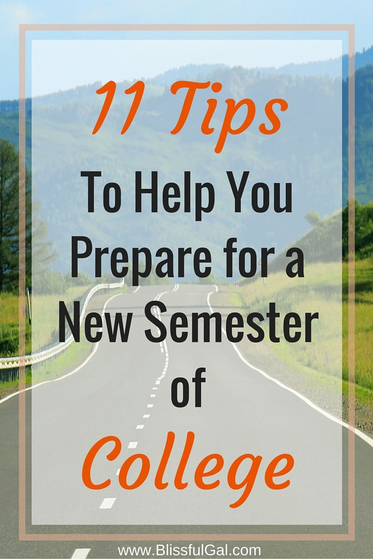 With a new college semester right around the corner, knowing how to prepare for a new college semester is essential for your success!