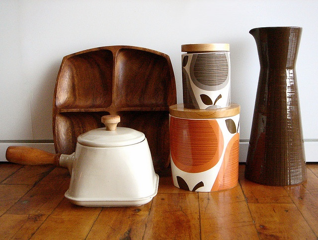 Orla Kiely mixed with mid century