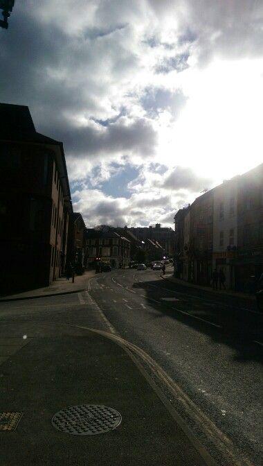 Road to work - beautiful weather!