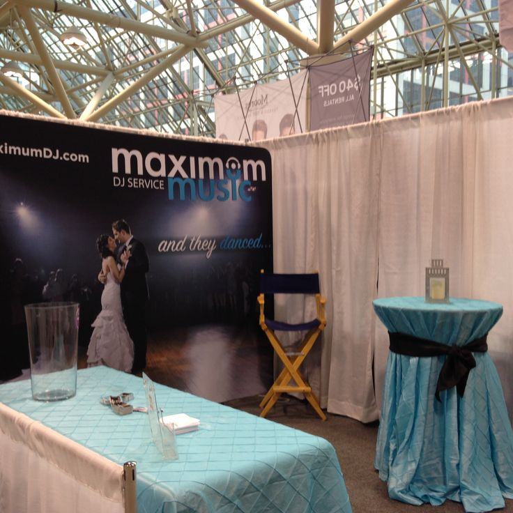 Maximum Music is all setup for Canada's Bridal Show at The Metro Toronto Convention Centre! Today through Sunday!