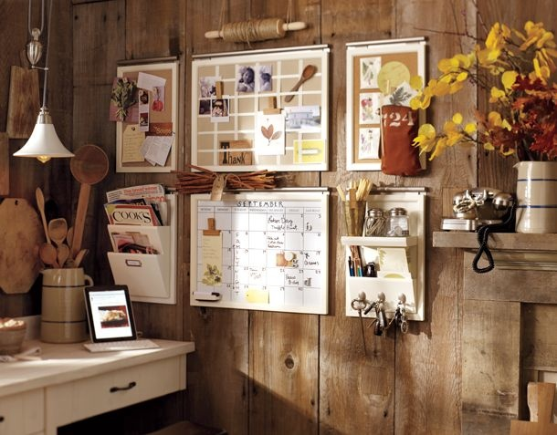 Organize!: Ideas, Potterybarn, Command Center, Daily System, House, Wall Organizations, Offices Organizations, Home Offices, Pottery Barns