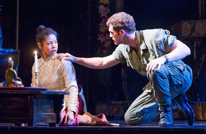 Miss Saigon: 25th Anniversary Performance [2016 in cinemas]. Director: Brett Sullivan. Cast: Alistair Brammer as Chris, Eva Noblezada as Kim, Jon Jon Briones as The Engineer.