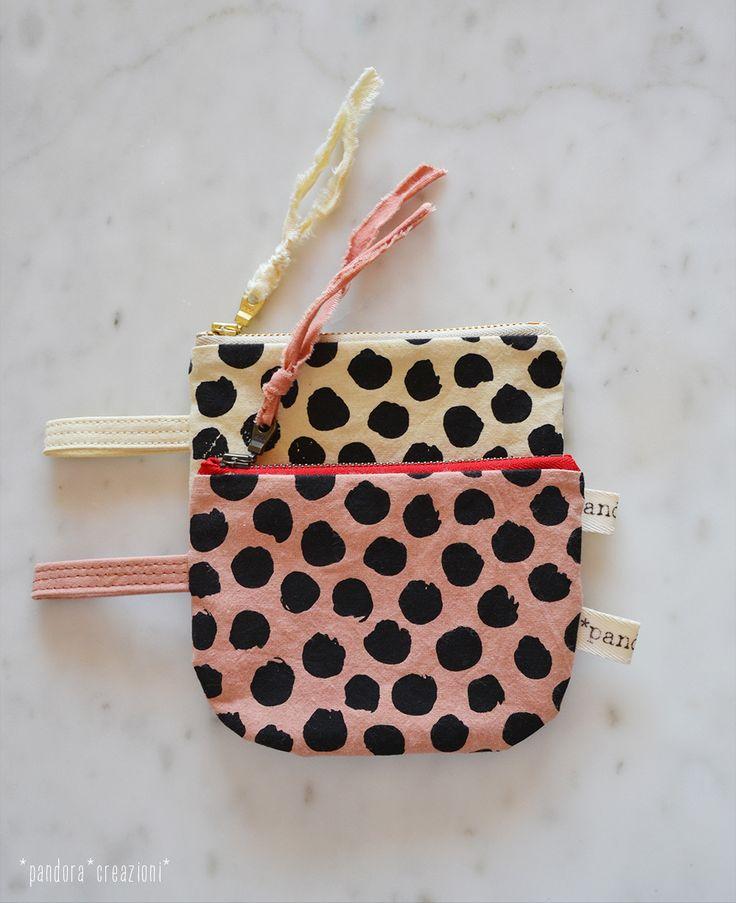 eco-friendly zipper pouch * pallini * pandora creazioni