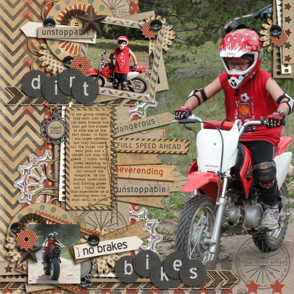 dirt-bikes definitely going to do this for my boys scrapbooks