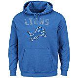 "Detroit Lions Majestic NFL ""Kick Return 2"" Men's Blue Hooded Sweatshirt"