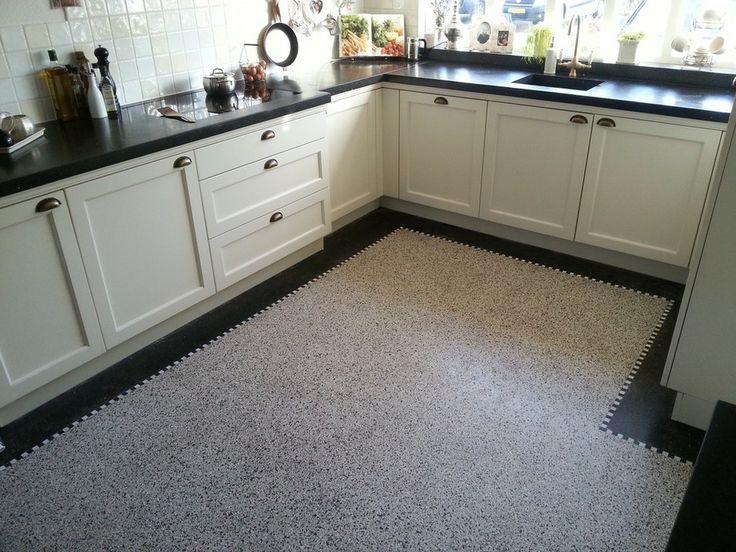 17 best images about gerry graniet houten vloer on pinterest toilets scissors and radiators - Vinyl vloer voor keuken ...
