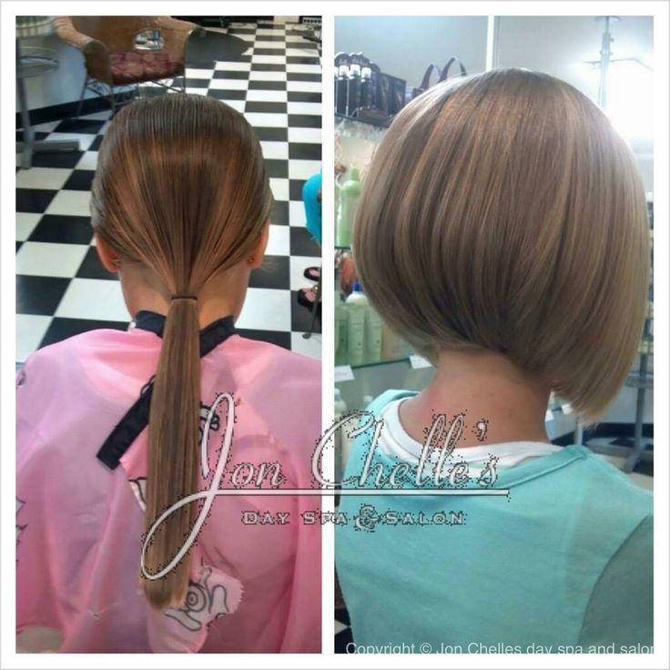 Child 39 s short bob haircut by terra almendarez aveda for A little off the top salon