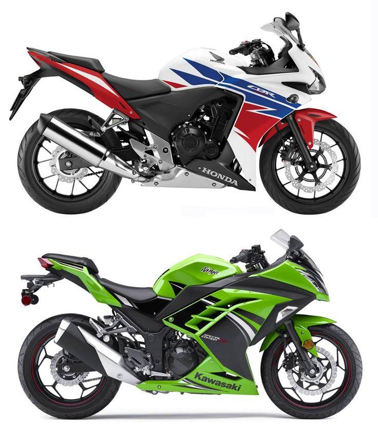 Honda CBR 500R 2014 vs Kawasaki Ninja 300 2014