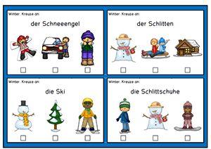 Deutsch: Wort- und Aufgabenkarten, Thema Jahreszeiten