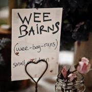 Scottish wedding table decoration.
