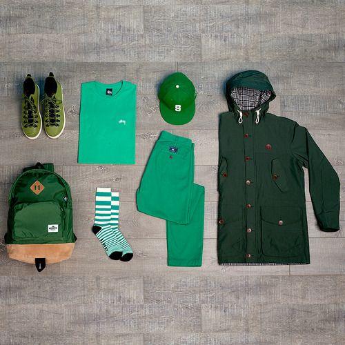 multi shades of green