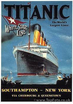 'TITANIC' POSTER, 1912. English poster advertisement, 1912 ...