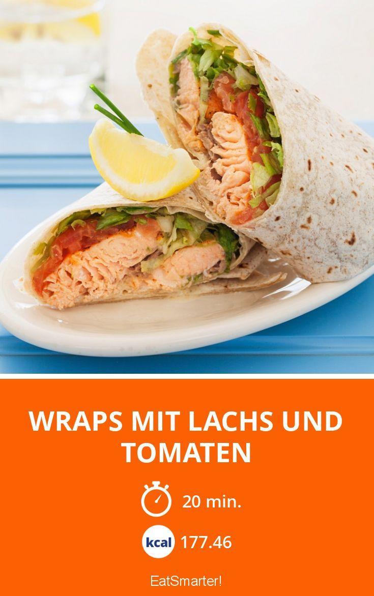 Wraps mit Lachs und Tomaten - smarter - Zeit: 20 Min.   eatsmarter.de