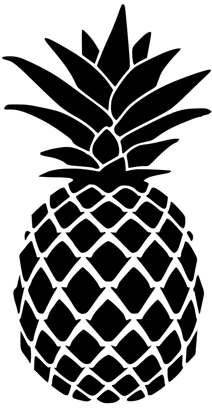 Pineapple Stencil for Doormat  Lydi Out Loud  Summer  Stencils Cricut Pineapple template