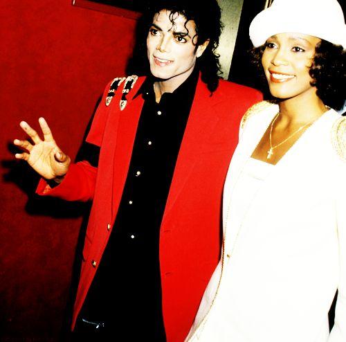 Michael Jackson and Whitney Houston #legends #RIP #talent