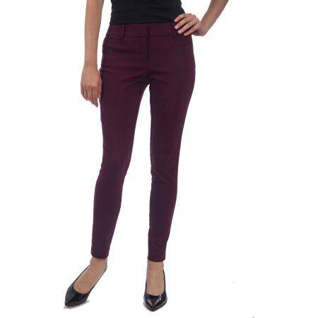 No Boundaries Juniors' Millennium Skinny Pants, Size: 1, Purple