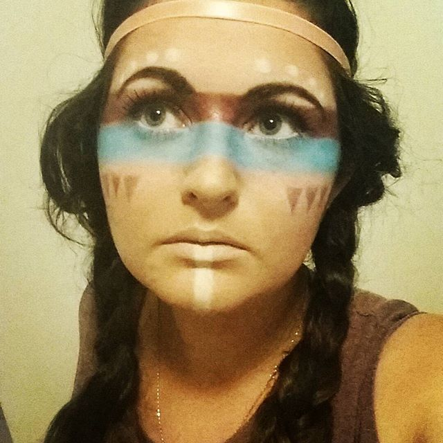 American Indian makeup, that tan though.