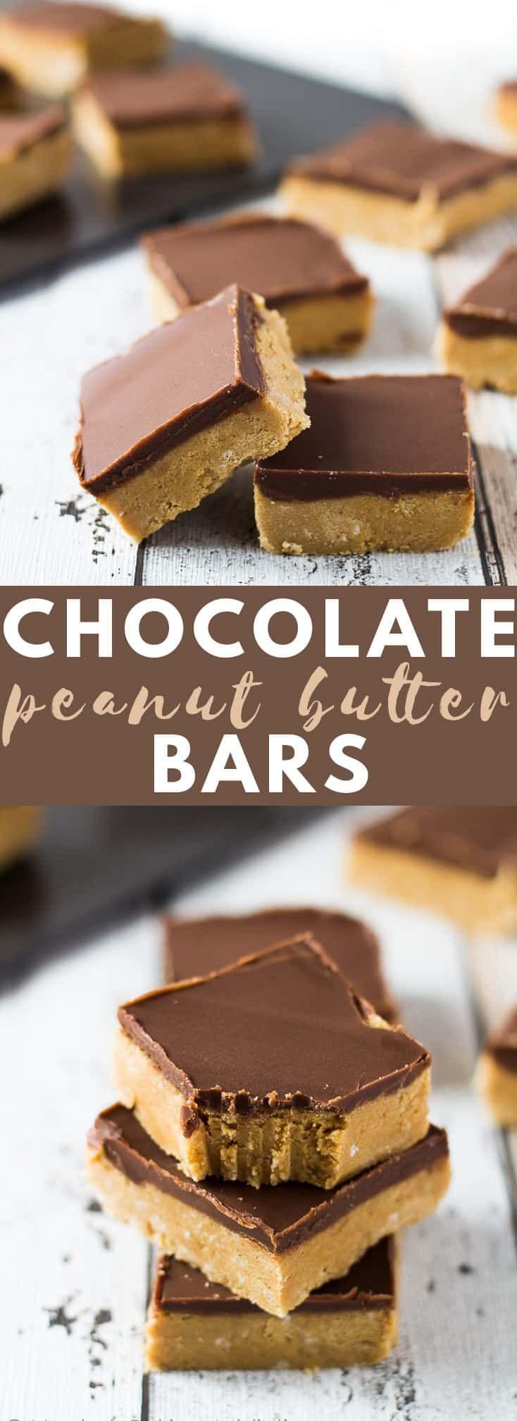 No-Bake-Schokoladen-Erdnussbutterriegel – Diese Er…