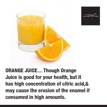 Dental Tip: limit your orange juice. The citric acid in large portions ruins your enamel. Beachside Pediatric Dentistry - www.oceansofsmiles.com
