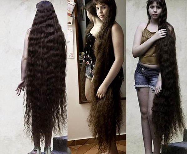 A Real-Life Rapunzel: Hair only an inch shorter than own ...