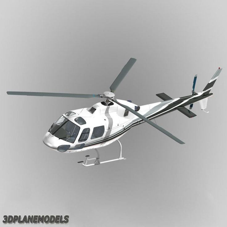 3D Model Eurocopter Mont Blanc Helicopters - 3D Model