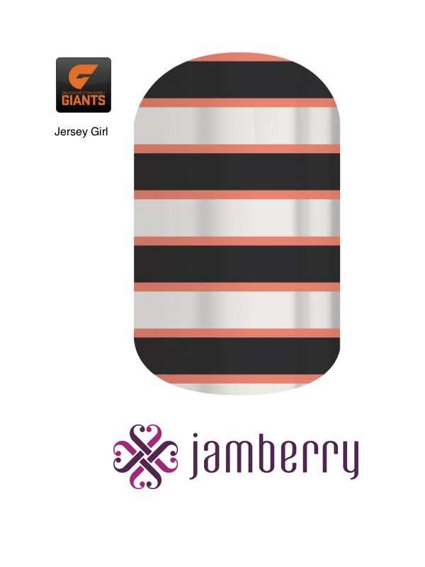 Jamberry Giants Inspiration - Jersey Girl