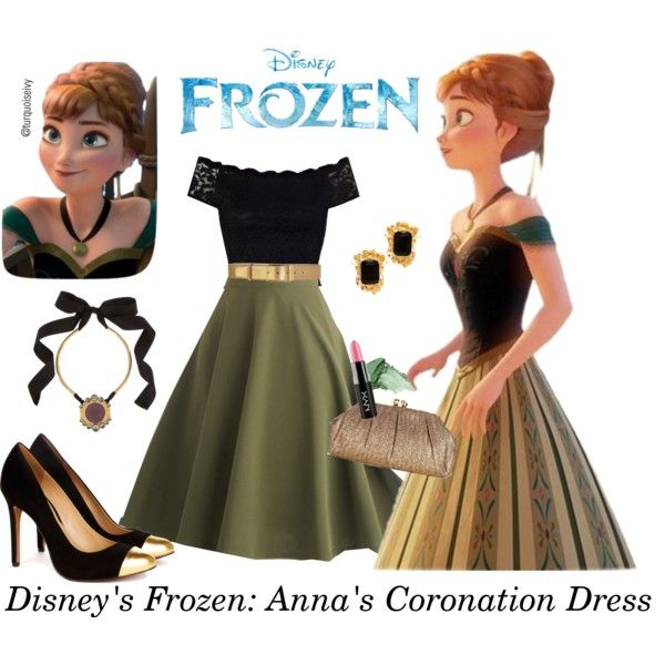 """""""Disney's Frozen: Anna's Coronation Dress"""" by turquoiseivy on Polyvore"""