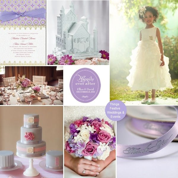 Fairy Tale Wedding Featuring Pantones Spring 2013 Color African Violet