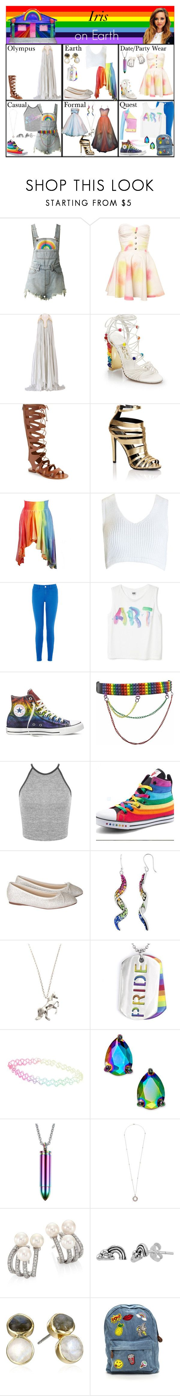 """""""Iris on Earth. (Jade Thirlwall as Iris)"""" by elmoakepoke ❤ liked on Polyvore featuring UNIF, Maria Lucia Hohan, Salvatore Ferragamo, Topshop, Lipsy, Sans Souci, Oasis, Converse, Miss Selfridge and Rainbow Club"""