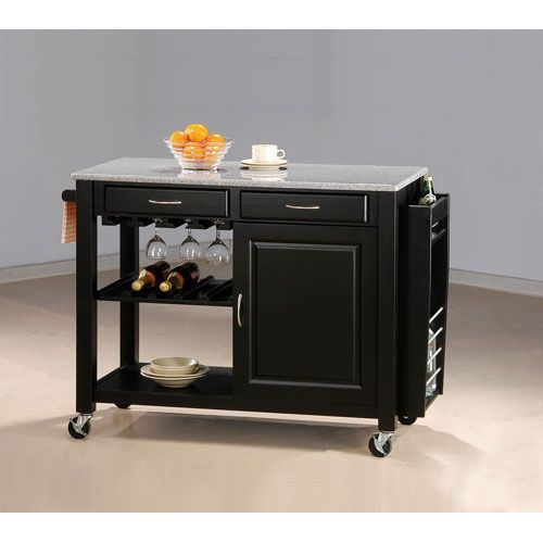 Coaster furniture kitchen cart with granite top kitchen Kitchen utility island