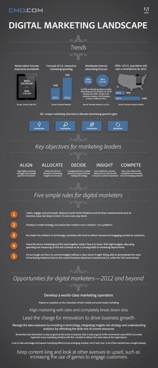 2012 Digital Marketing Landscape - an infographic containing some numbers & hints.