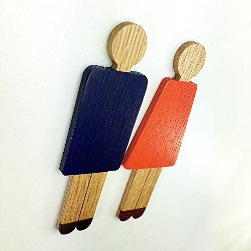 Amazon | 男性ピクト + 女性ピクト セット(着色) P1c+P2c 木製 ドアプレート ドアを開けると森の香りがする! ウッドサイン 「新・森の生活」シリーズ P1c+P2c | 店舗看板 | 文房具・オフィス用品