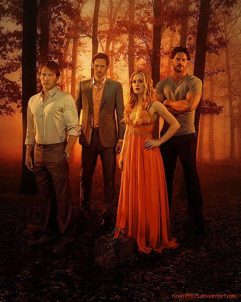true blood comic art | True Blood - Fall (Bill, Eric, Sookie, Alcide) by riogirl9909