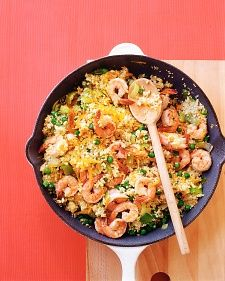 Shrimp with Couscous   @Martha Stewart Living  - simple healthy recipe