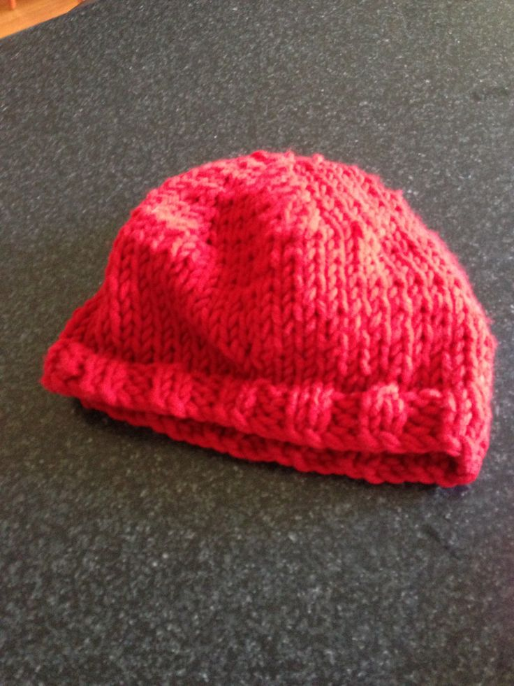 My red beret .. Home knitted with love :)