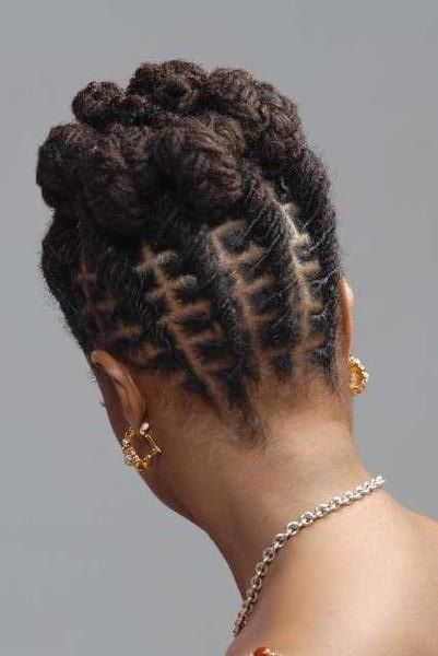 Could be done on twists, box braids, or locks as shown