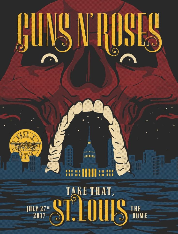 Guns n'Roses   Not In This Lifetime Tour 2017 NorthAmerica St.Luis