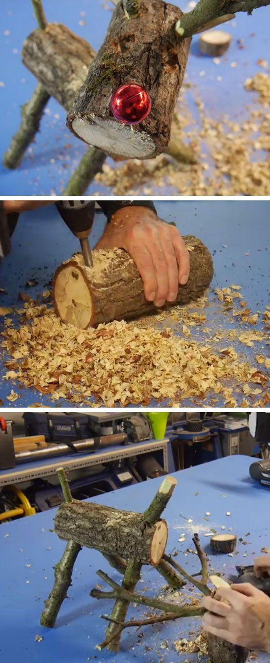 Wie macht man ein Rentier aus Holz | DIY rustikale…