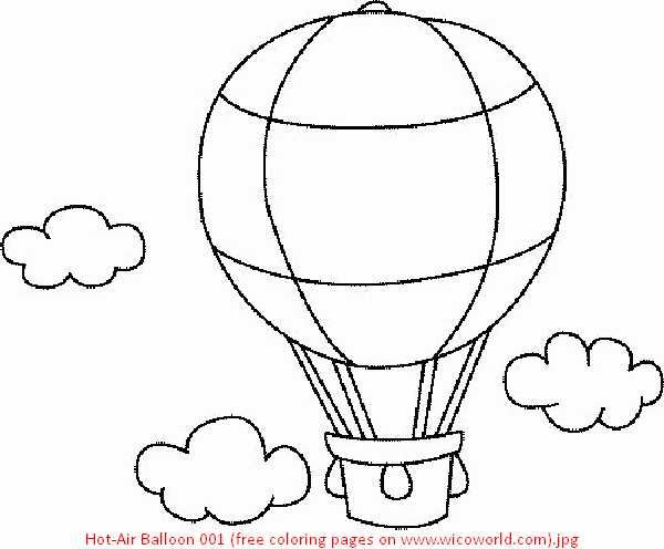 52 Best Images About Coloring Pages On Pinterest Air Balloon Colouring Page