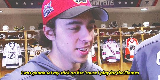 I want Johnny Gaudreau to plan everything for me, because that's pure genius right there!