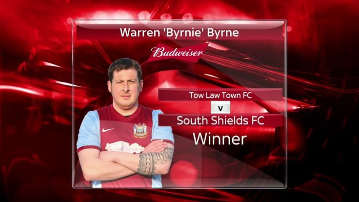 Darren Byrne of South Shields AFC is Budweiser UK: Dream Goal 2016 Winner | Jamie Carragher, Jamie Redknapp &...