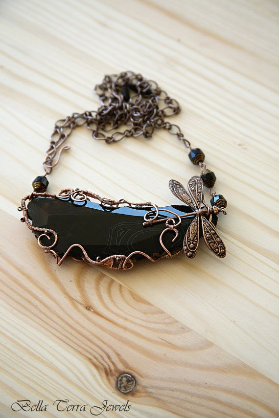 Fantasy Agate Necklace. Black Agate necklace. by BellaTerraJewels