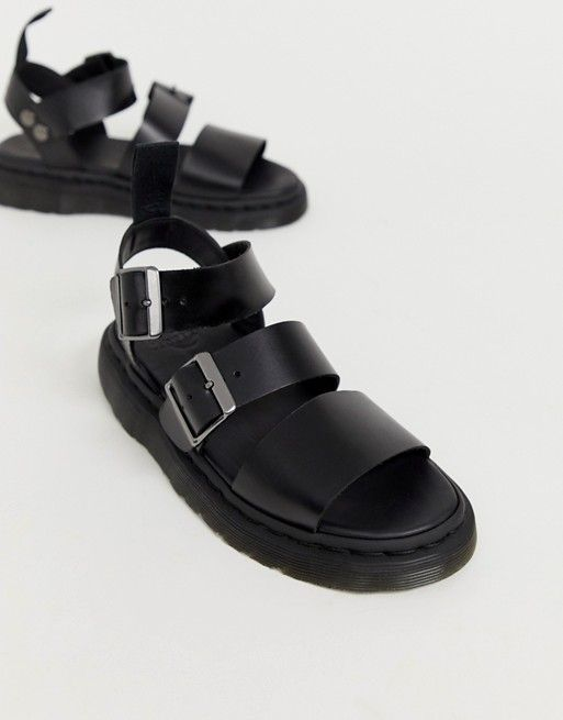 Dr Martens Gryphon leather sandals in black | ASOS in 2020